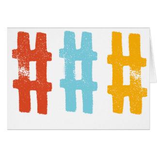 hashtagの挨拶状 グリーティングカード