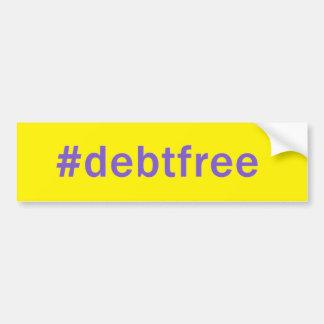 Hashtagの負債の自由なバンパーステッカー バンパーステッカー