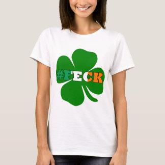 Hashtagのfeckの文字のアイルランド語St patricks Tシャツ