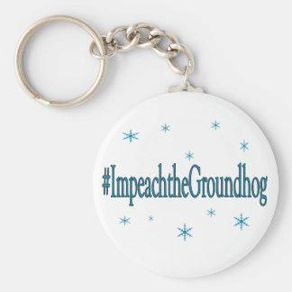 HashtagはユーモアのあるなGroundhogを弾劾します キーホルダー