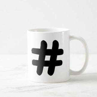 Hashtag コーヒーマグカップ