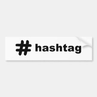 # hashtag バンパーステッカー