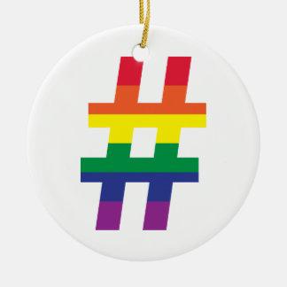 hashtag、虹の旗 セラミックオーナメント