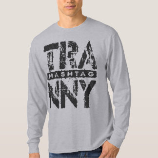 Hashtag TRANNY -愛は伝達、黒を再建しました Tシャツ