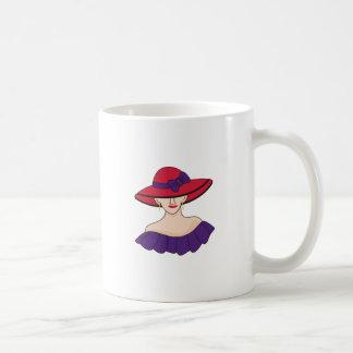 Hat女性 コーヒーマグカップ
