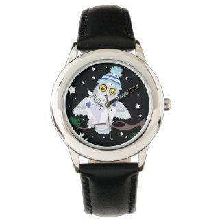 Hat~wristwatchのSnowyのフクロウ 腕時計