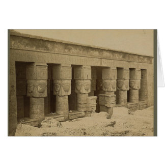 Hathorの寺院、1867年頃エジプト カード