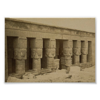 Hathorの寺院、1867年頃エジプト ポスター