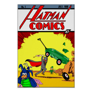 Hatmanのパロディポスター ポスター
