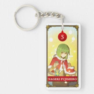 Hatoful Advent calendar 5: Nageki Fujishiro 長方形(両面)アクリル製キーホルダー