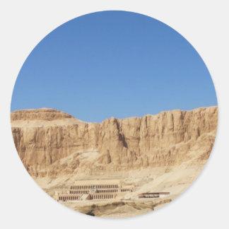 Hatshepsutの寺院のパノラマ式の写真 ラウンドシール