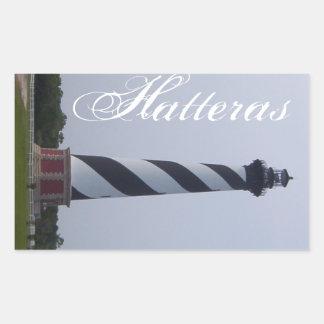 Hatterasの灯台ステッカー 長方形シール