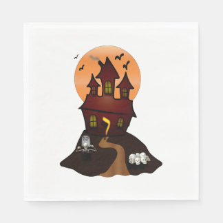 Haunted House Halloween Party Napkins スタンダードランチョンナプキン
