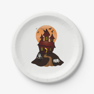 Haunted House Halloween Party Paper Plates ペーパープレート