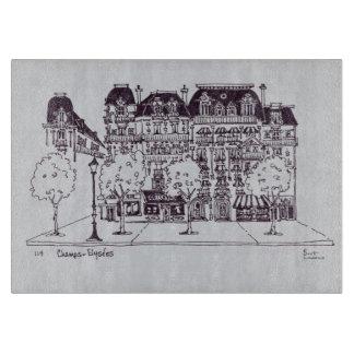 Haussmannの建築|のチャンピオンElysees カッティングボード