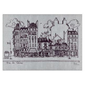 Haussmannの建築| Rue de Sevres カッティングボード