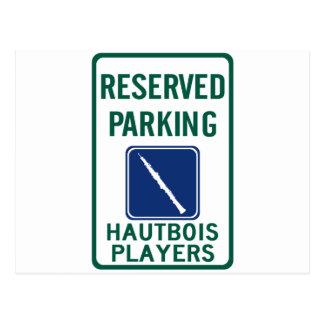 Hautboisプレーヤーの駐車 ポストカード