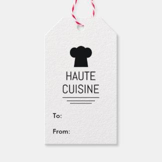Hauteの料理のフランスのなシェフの料理の学校 ギフトタグ