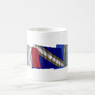 Hauteマルヌ、シャンペンArdenne及びフランスの旗 コーヒーマグカップ