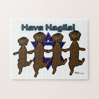 Hava NagilaのDachsundsのパズル ジグソーパズル