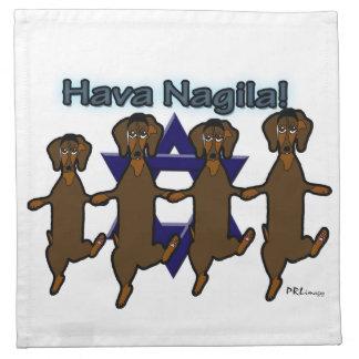 Hava NagilaのDachsundsの布のナプキン ナプキンクロス