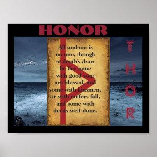 Havamalの名誉 ポスター