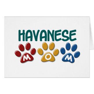 HAVANESEのお母さんの足のプリント1 カード