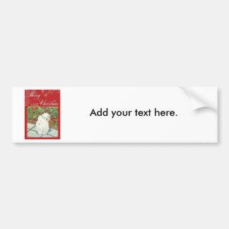 Havaneseのケシのクリスマスギフトおよびカード バンパーステッカー