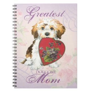 Havaneseのハートのお母さん ノートブック