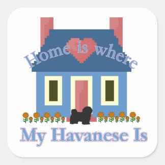 Havaneseの家はあります スクエアシール