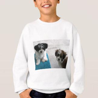 Havaneseの救助の子犬の白黒の灰色 スウェットシャツ