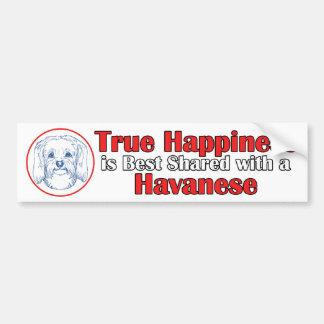 Havaneseの本当の幸福 バンパーステッカー