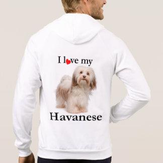 Havaneseの私のフード付きスウェットシャツを愛して下さい パーカ