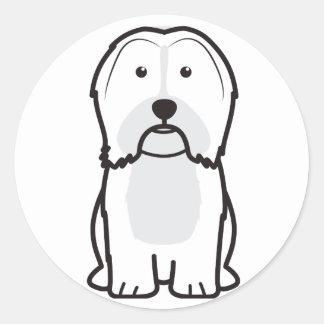 Havanese犬の漫画 ラウンドシール