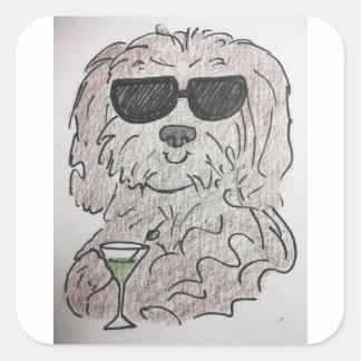 Havanese犬マルティーニ スクエアシール