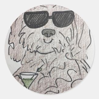 Havanese犬マルティーニ ラウンドシール