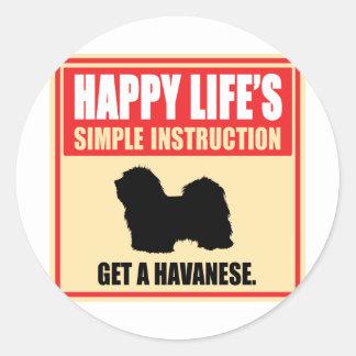 Havanese ラウンドシール