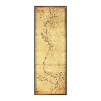 Havannah (1784年)への北アメリカのケープコッドの地図 キャンバスプリント