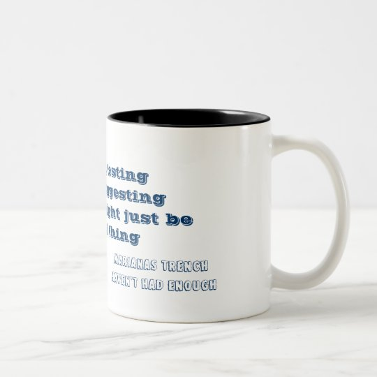 Haven't had enough lyrics mug ツートーンマグカップ