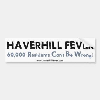 Haverhill熱のバンパーステッカー バンパーステッカー