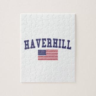 Haverhill米国の旗 ジグソーパズル