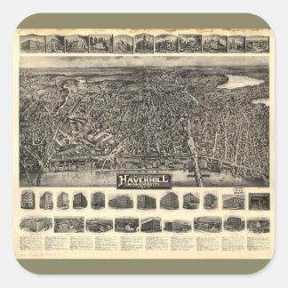 Haverhill、マサチューセッツ(1914年)の空中写真 スクエアシール