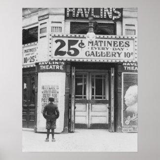 HavlinのTheatre 1910年。 ヴィンテージの写真 ポスター