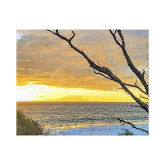 Hawaiのビーチ キャンバスプリント