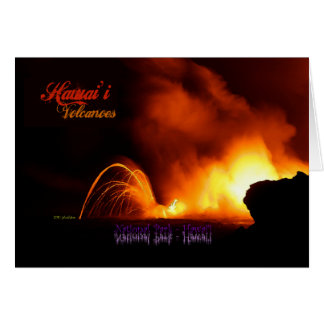 Hawai'iの火山ヴィンテージのスタイル カード