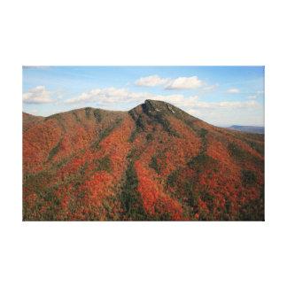 Hawksbill山、ノースカロライナの秋 キャンバスプリント