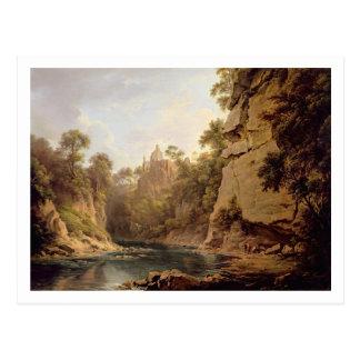 Hawthorndenの城、エジンバラの近くで、c.1820-22 (油 ポストカード