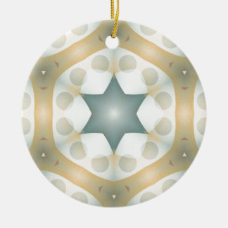Haxagonのモダンで幾何学的な万華鏡のように千変万化するパターン セラミックオーナメント