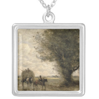 Haycart、c. 1860年 シルバープレートネックレス