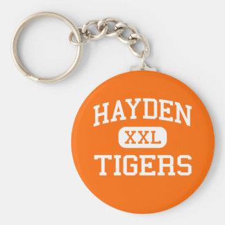 Hayden -トラ-高等学校- Haydenコロラド州 ベーシック丸型缶キーホルダー